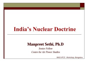Manpreet Sethi - Nuclear Weapons and India's National Sec Strategy