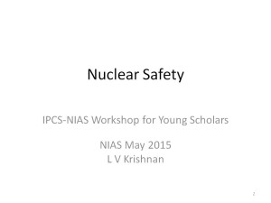 LV Krishnan - Nuclear Safety