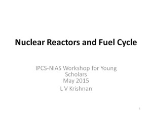 LV Krishnan - Nuclear Reactors and Fuel Cycle