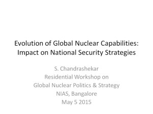 S Chandrashekar - Evolution of Global Nuclear Capabilities
