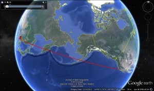 Quo Vadis Trajectory Simulation for 800kg Payload, Azimuth 40 degrees