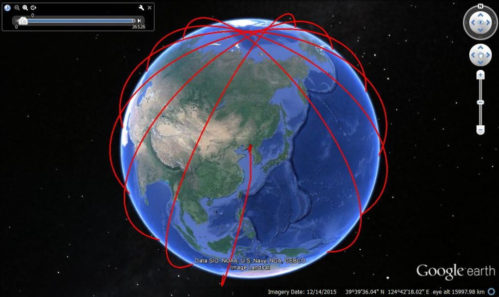 unha3 feb 2016 launch trajectory